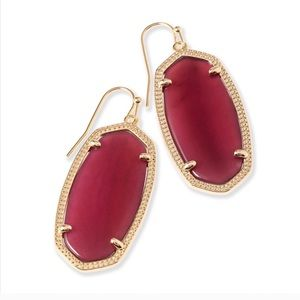Burgundy Elle Earrings